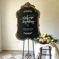 Gold Chalkboard Sign - GL8