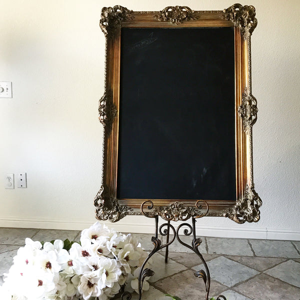 Gold Chalkboard Sign - GL7