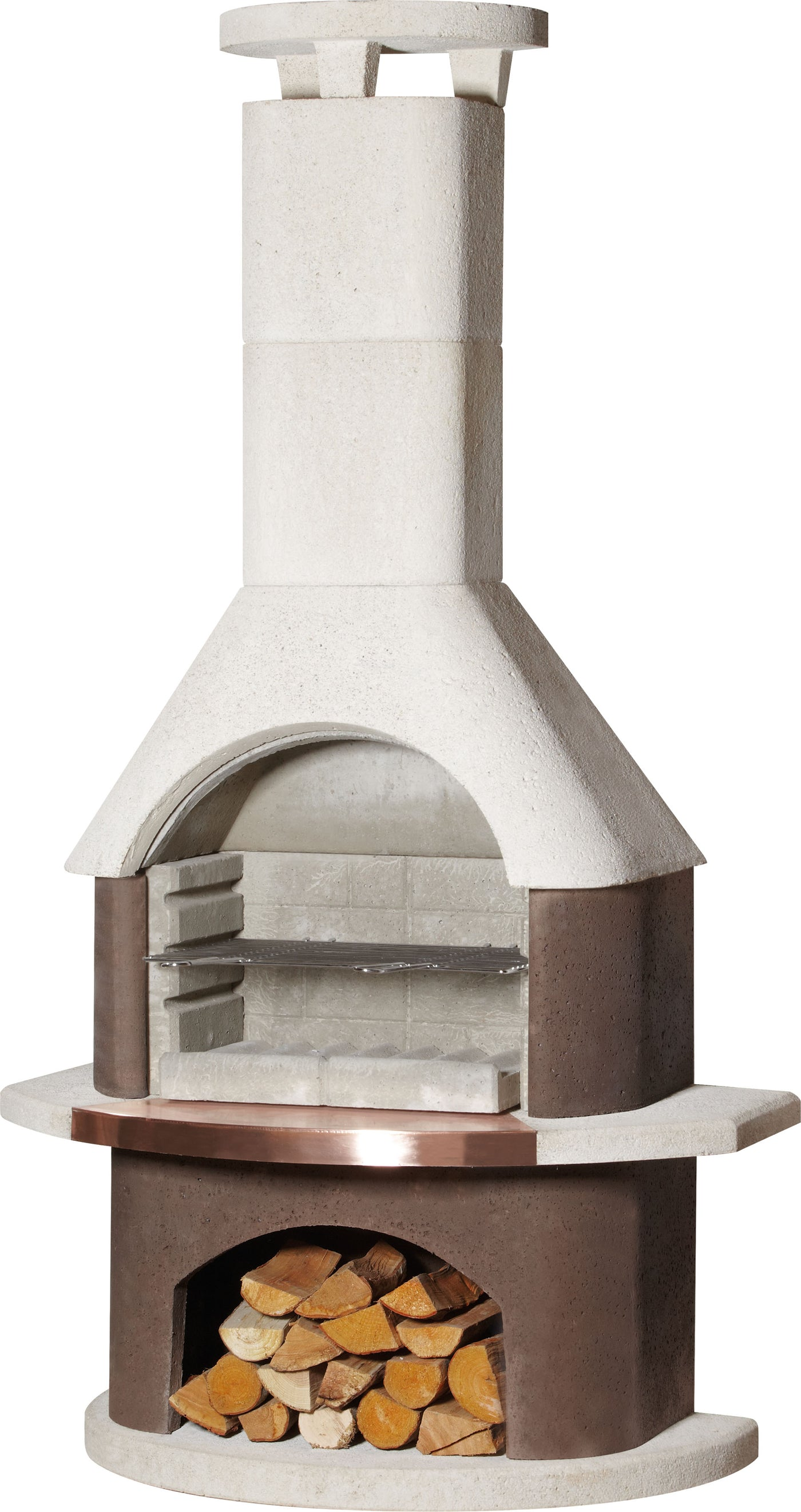 San Remo Diy Outdoor Fireplace Kit Bbq Grill Combo Pizza Oven All In One Buschbeck Usa