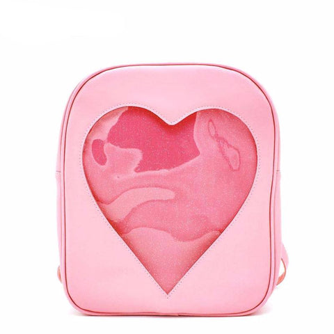 2b74a018a881  Affordable Online Kawaii Shop  - Cool Kawaii. Transparent Heart Backpack.  Regular price  24.99