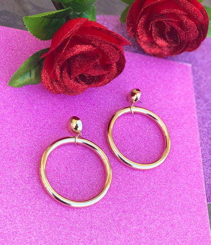 LOLIN '60s style hoop earrings