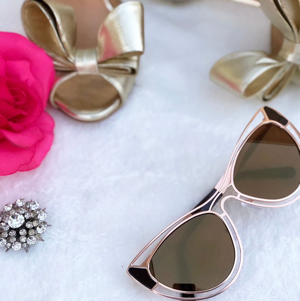 AURORA cateye sunglasses (rose gold)
