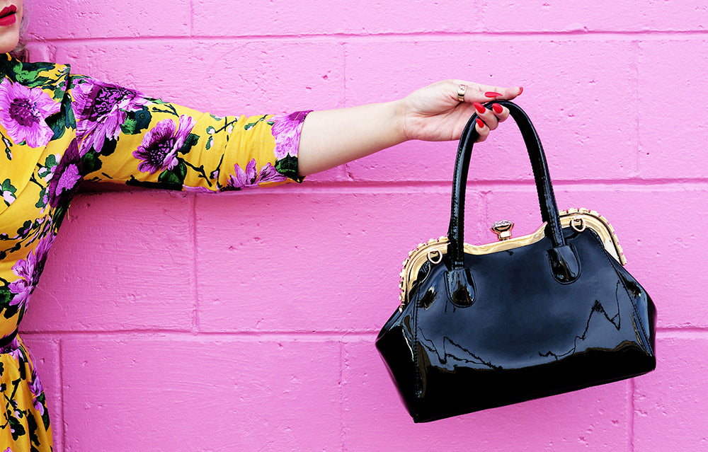 LOLA (black) fancy lady purse