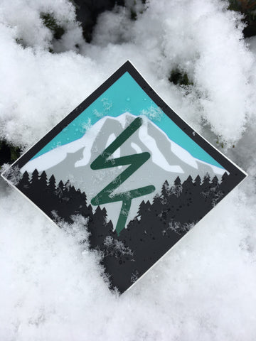 Mountain Life Sticker