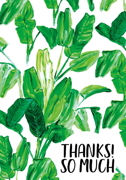 THANK YOU CARD 'Thanks! So Much'