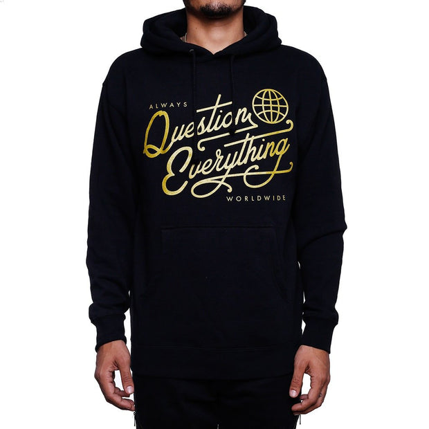 8 9 MFG Co. royalty question everything hooded sweatshirt jackets and outerwear black WaxiStash