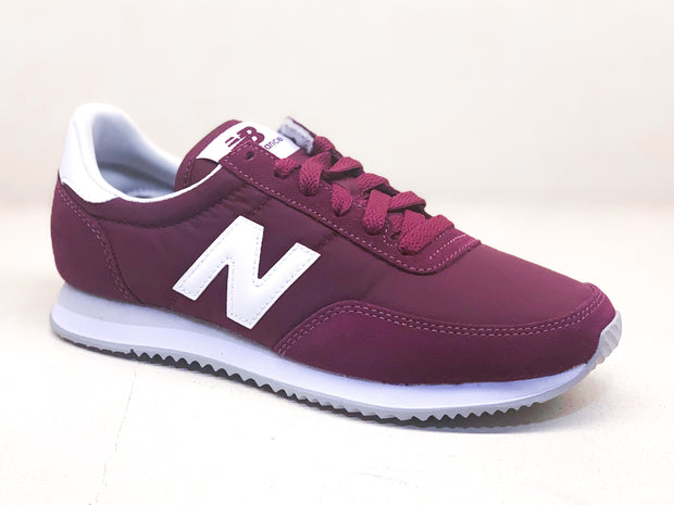 New Balance x70 classic burgundy white sneakers red WaxiStash
