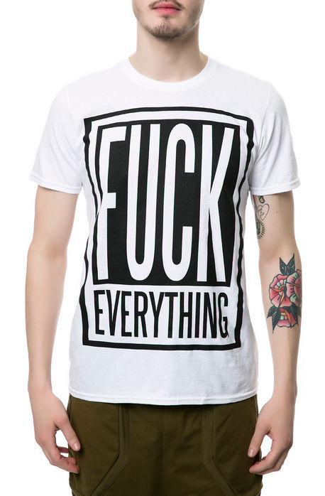 Fuck Everything Square Tee White