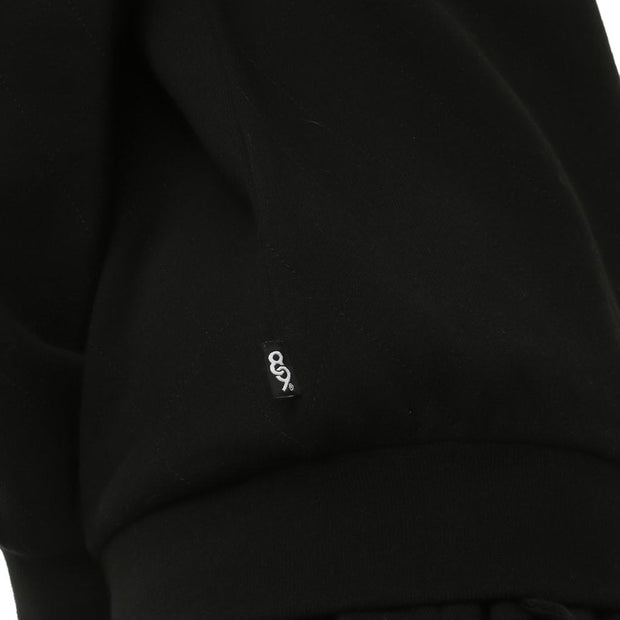 COD Luxed Up Quilted Fleece Crewneck Drop Shoulder Gold Detailing