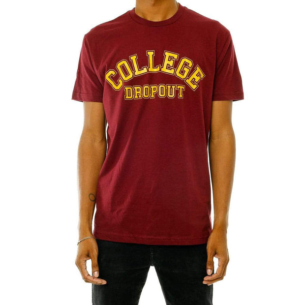 College Drop Out T-Shirt Maroon