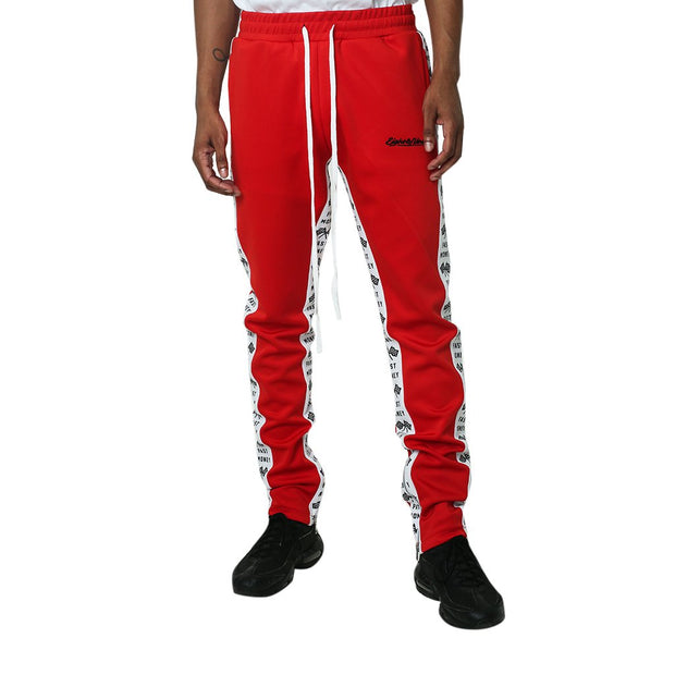Get Money Double Striped Track Pants Red