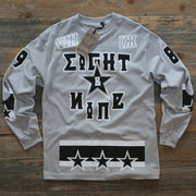 Moscow Wolf Grey Hockey Jersey Tee L/S