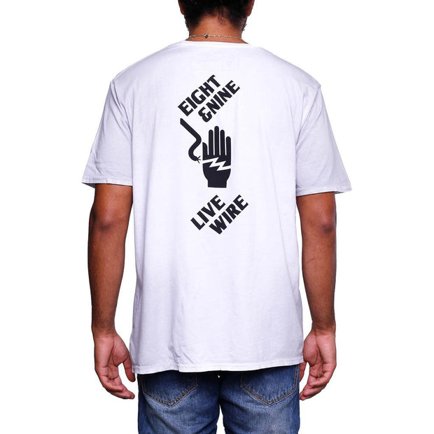 Live Wire T Shirt Dirty White