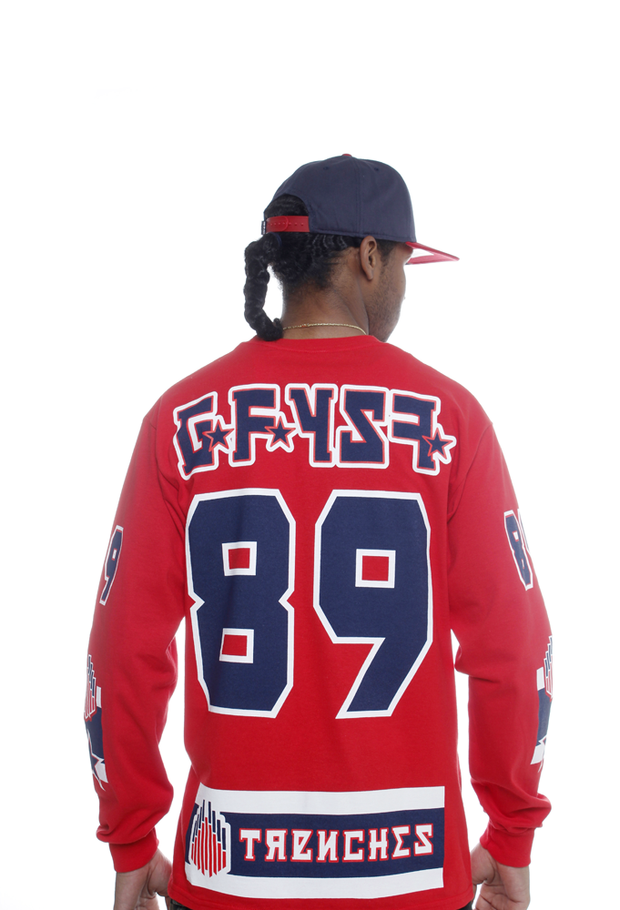 GFYSF Hockey Jersey Tee Red L/S - 4