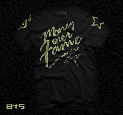 Foamposite Electric Green Money Over Fame T Shirt