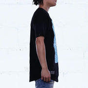 Sensi Photo Curved Hem Tee Black