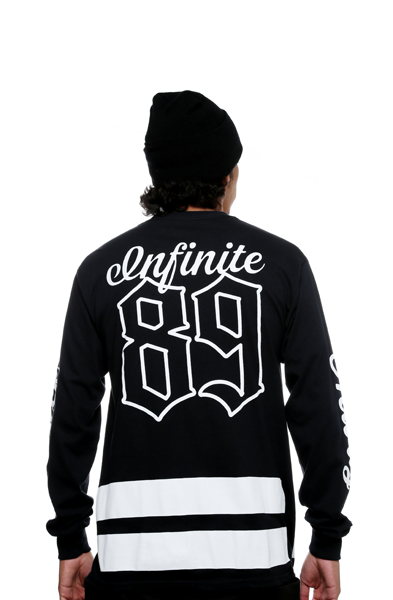 On Deck Jersey Tee Black L/S