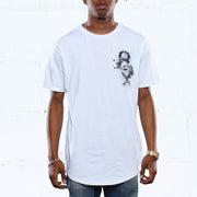 Snare Keys Curved Hem T Shirt White