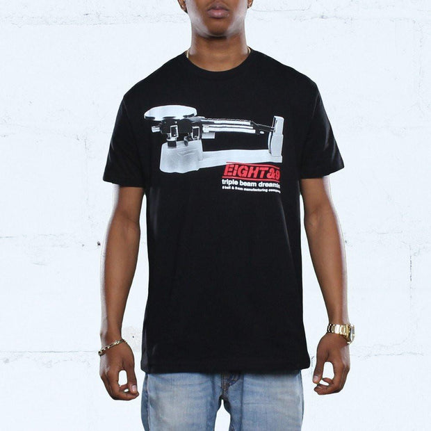Triple Beam T Shirt Black