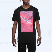 Wreckage Curved Hem Tee Black