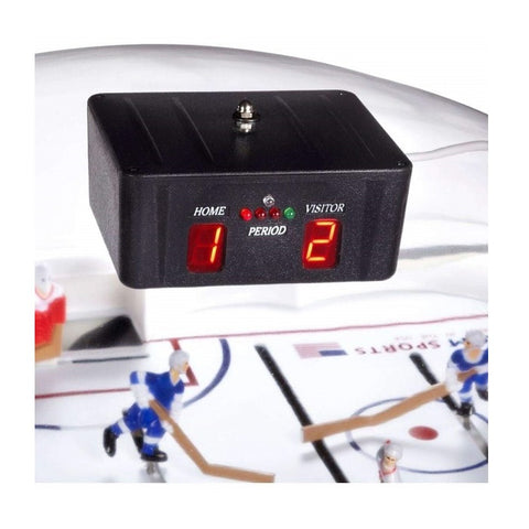 Carrom Super Stick Hockey Table - Electronic Scoring Unit - The Rec Room Game Company