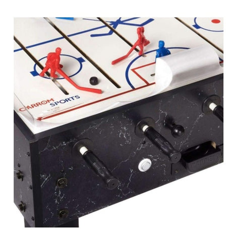 Carrom Super Stick Hockey Table - Black - Side - The Rec Room Game Company