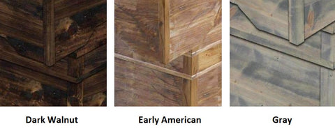 Stain Options - Dark Walnut, Early American, Gray - Perfromance Games RL Foosball Table