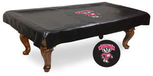 "University of Wisconsin ""Badger"" Logo Billiard Table Cover"