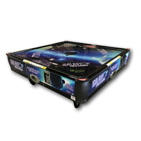 Image of Barron Games Galaxy Collision QuadAir Air Hockey Table With LED Lights Topper