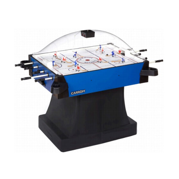 Carrom Signature Stick Hockey Table - Blue with Pedestal - The Rec Room Game Company