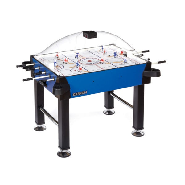 Carrom Signature Stick Hockey Table - Blue with Standard Legs - The Rec Room Game Company