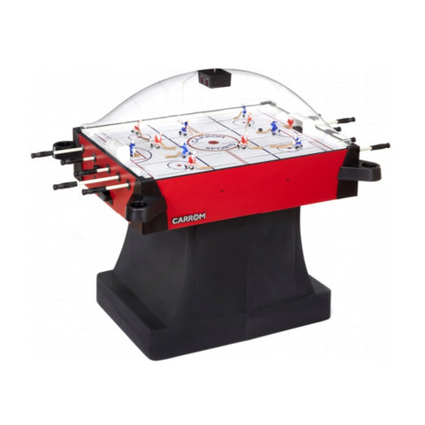 Image of Carrom Signature Stick Hockey Table - Red with Pedestal - The Rec Room Game Company