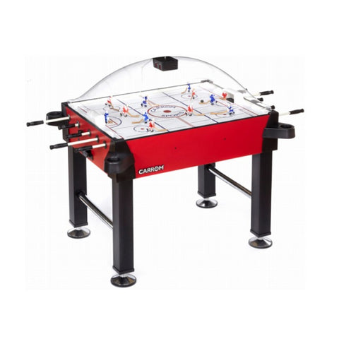 Image of Carrom Signature Stick Hockey Table - Red with Standard Legs - The Rec Room Game Company