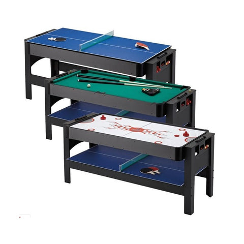 Image of Fat Cat 3-In-1 Flip Game Table - Billiards, Table Tennis, & Air Hockey