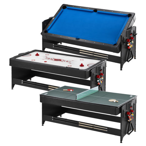 Image of Fat-cat-original-pockey-BLUE-3-in-1-game-table