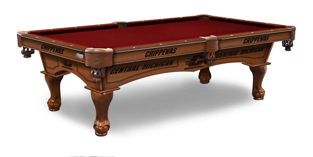 Central Michigan University Billiards Table - The Rec Room Game Company
