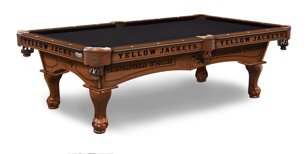 Georgia Tech Billiards Table - The Rec Room Game Company
