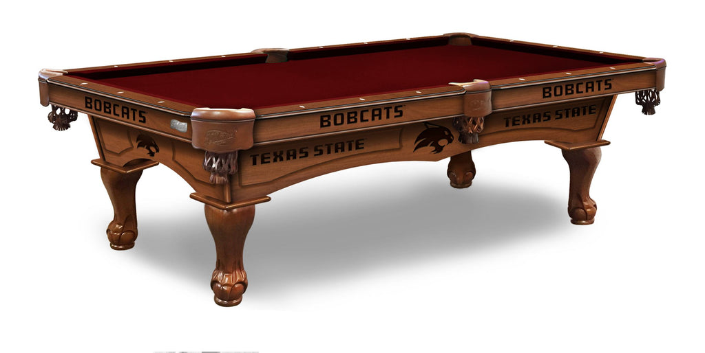 Texas State University Billiards Table - The Rec Room Game Company