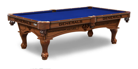 Washington & Lee University Billiards Table - The Rec Room Game Company