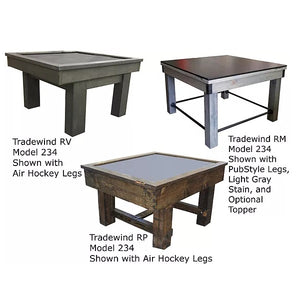 Tradewind 234 Air Hockey Table with Table Top Cover - RV, RM, or RP Model - By Performance Games