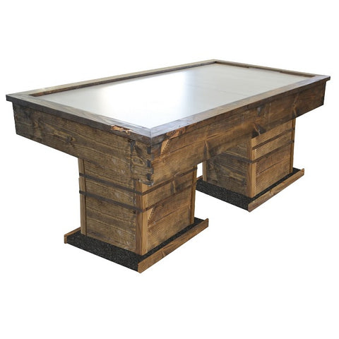 Image of Performance Games Tradewind RP Air Hockey Table with Dual Pedestal in Dark Walnut Stain