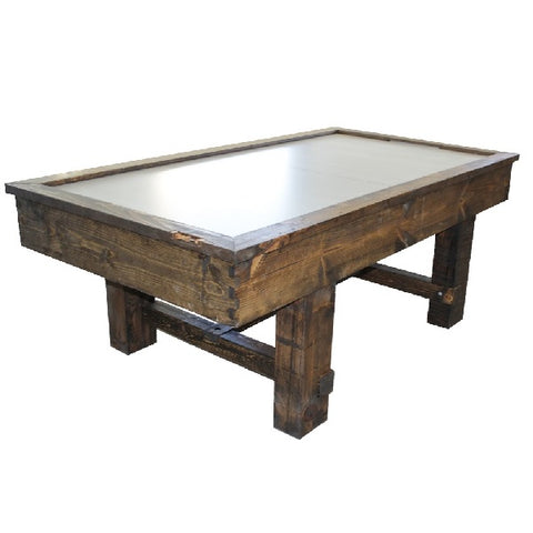 Image of Performance Games Tradewind RP Air Hockey Table with Standard Legs in Dark Walnut Stain