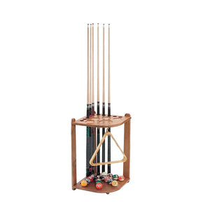 Viper Oak Corner Billiard Cue Rack - The Rec Room Game Company