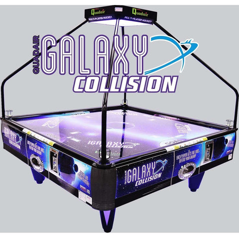 Image of Barron Games Galaxy Collision Quad Air Hockey Table With Topper-Barron Games-The Rec Room Game Company