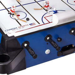Carrom Signature Stick Hockey Table With A Pedestal In Blue