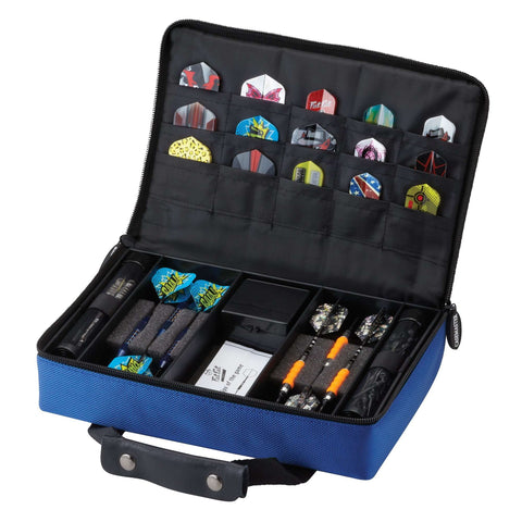 Image of Casemaster Classic Blue Nylon Dart Case 36-0900-03-Casemaster-The Rec Room Game Company