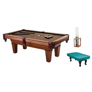 Complete Package - Fat Cat 7' Frisco II Billiard Table with Accessories, Cue Rack, and Dust Cover