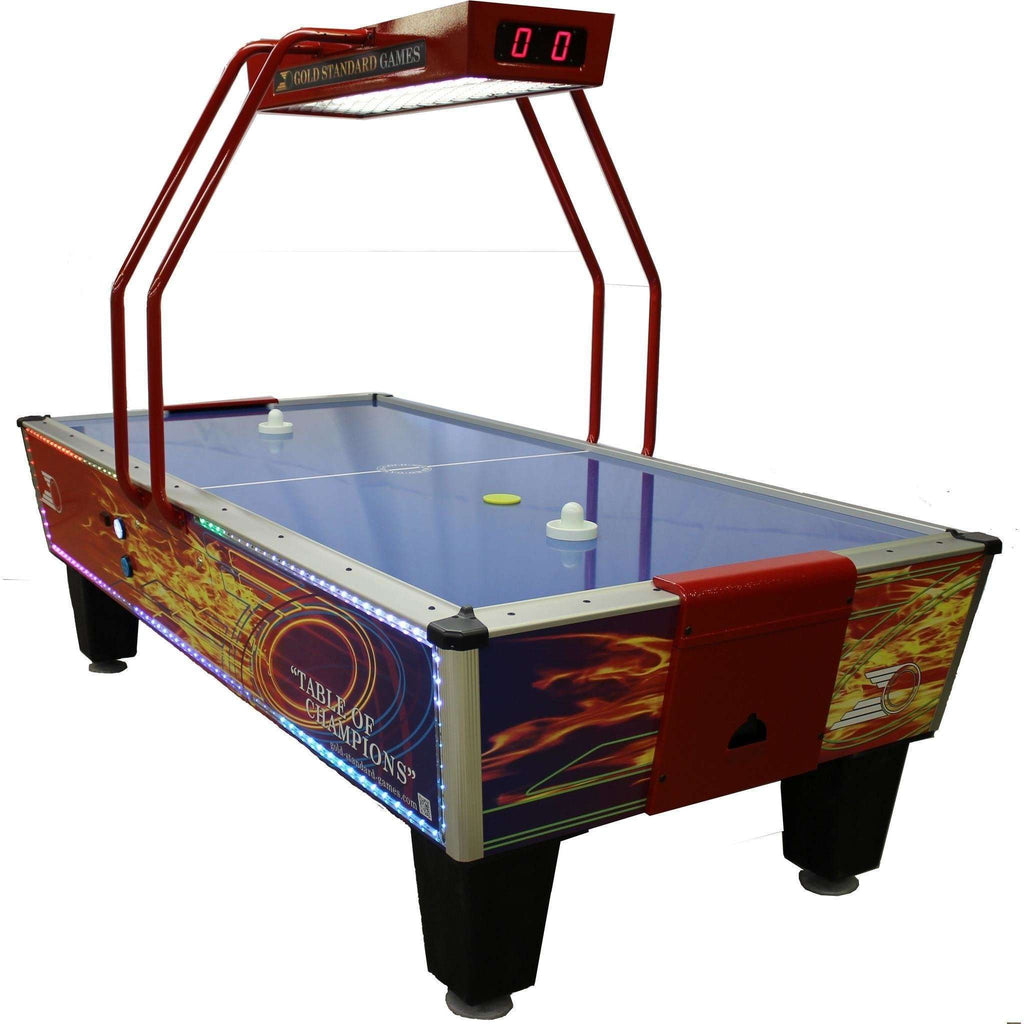 Gold Standard Games Gold Flare Home Elite Air Hockey Table Gold Standard  Games Air