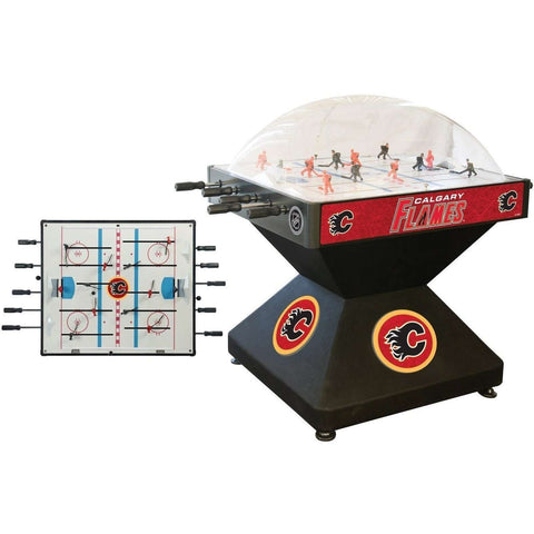 Holland Bar Stool Co Calgary Flames Deluxe Dome Hockey Game-Holland Bar Stool Company-The Rec Room Game Company