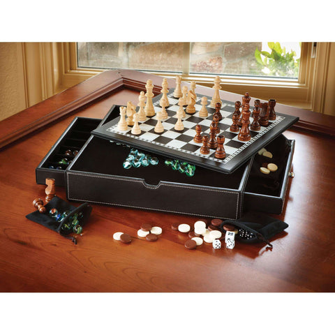 Image of Mainstreet Classics Chess - Checkers - Backgammon - Chinese Checkers-Mainstreet Classics-The Rec Room Game Company